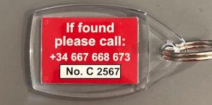 lost found keyrings